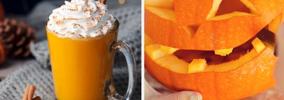 PSL and carved pumpkin