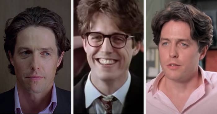 Hugh Grant in the movies Bridget Jones's Diary, Four Weddings and a Funeral, or Notting Hill.