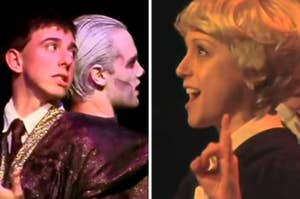Quirrell, Voldemort, and Malfoy from the musical