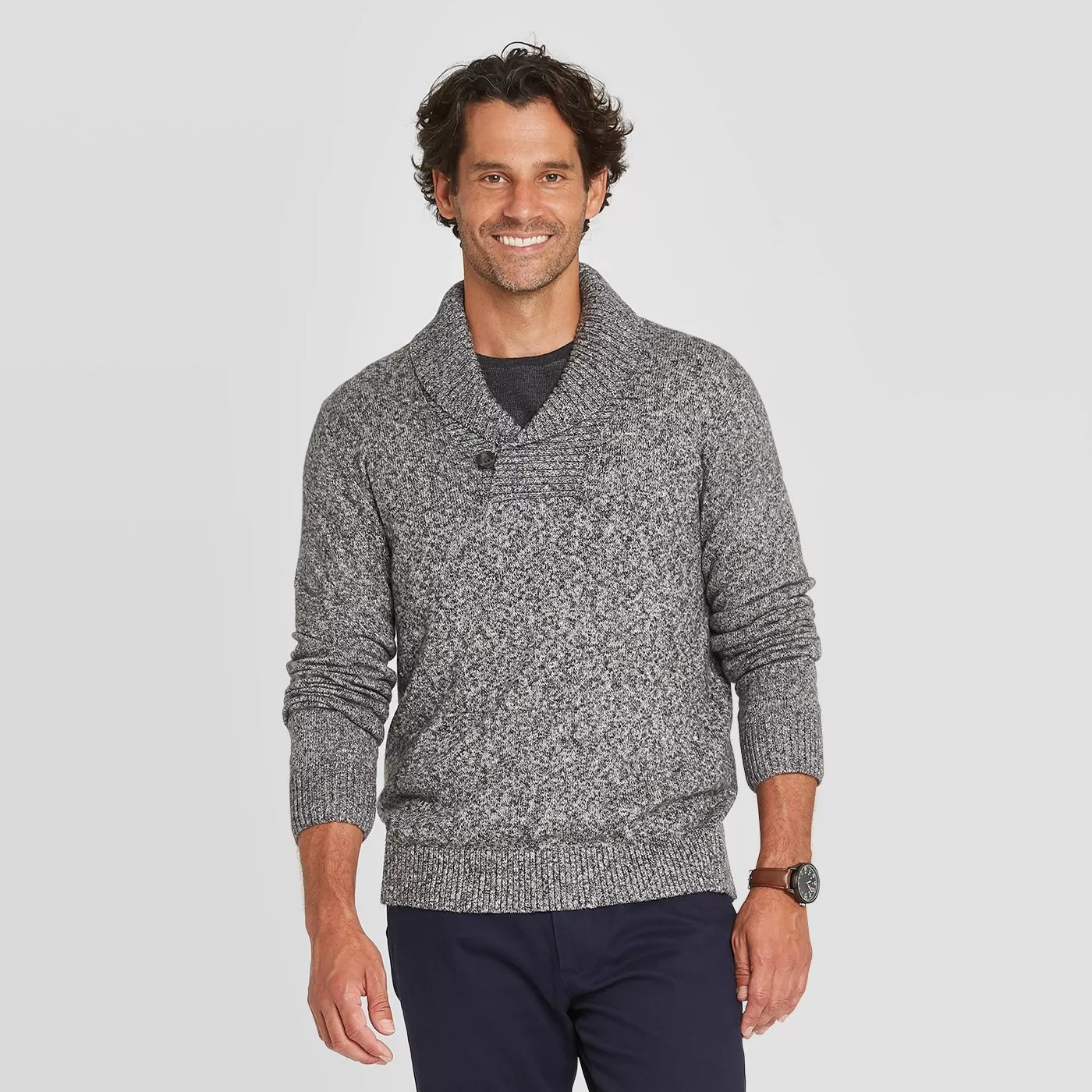 The sweater in gray