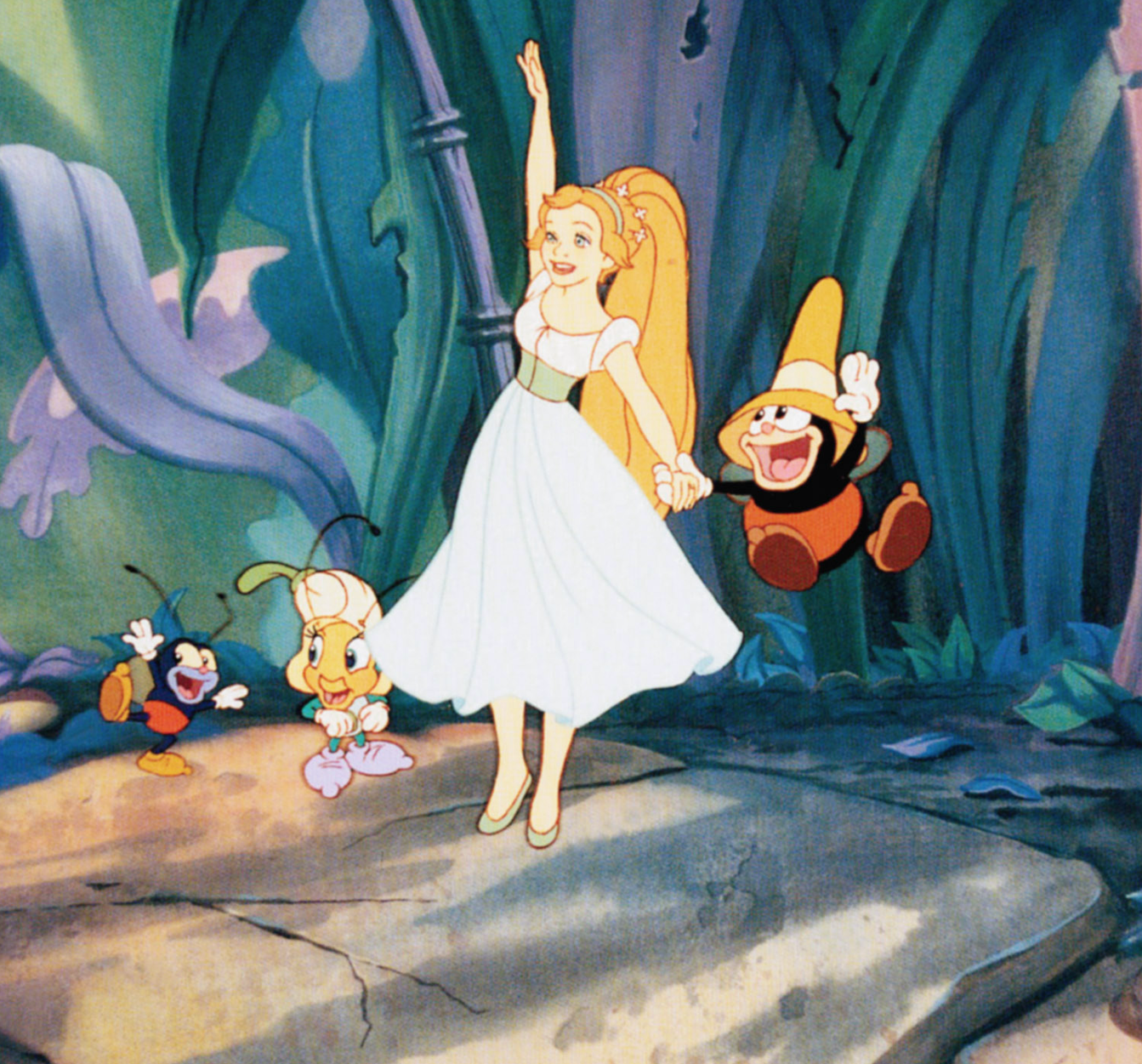 "Jodi Benson as Thumbelina in the movie ""Thumbelina."""