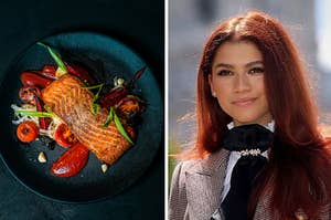 Salmon and Zendaya.