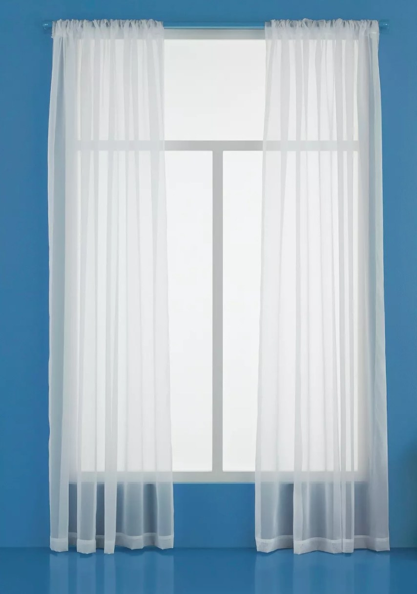 The sheer window curtain panel