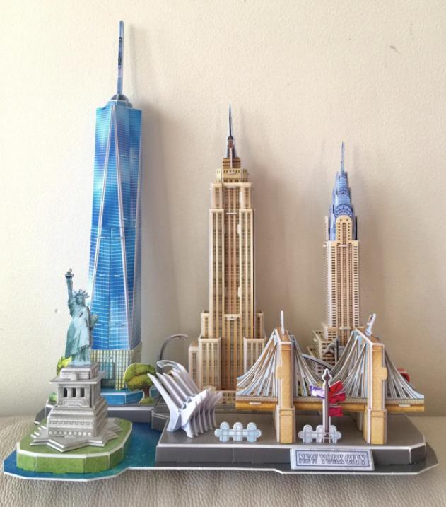 Reviewer photo of 3D model of New York City landmarks