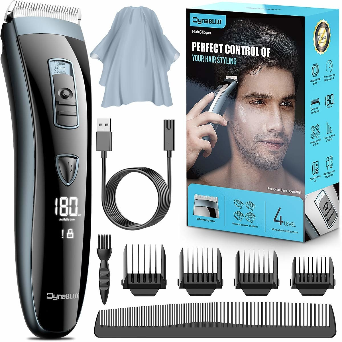 The complete cordless hair clipper set