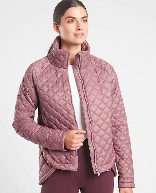 the puff coat in pink