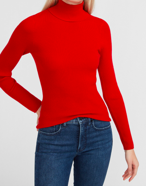 the sweater in red