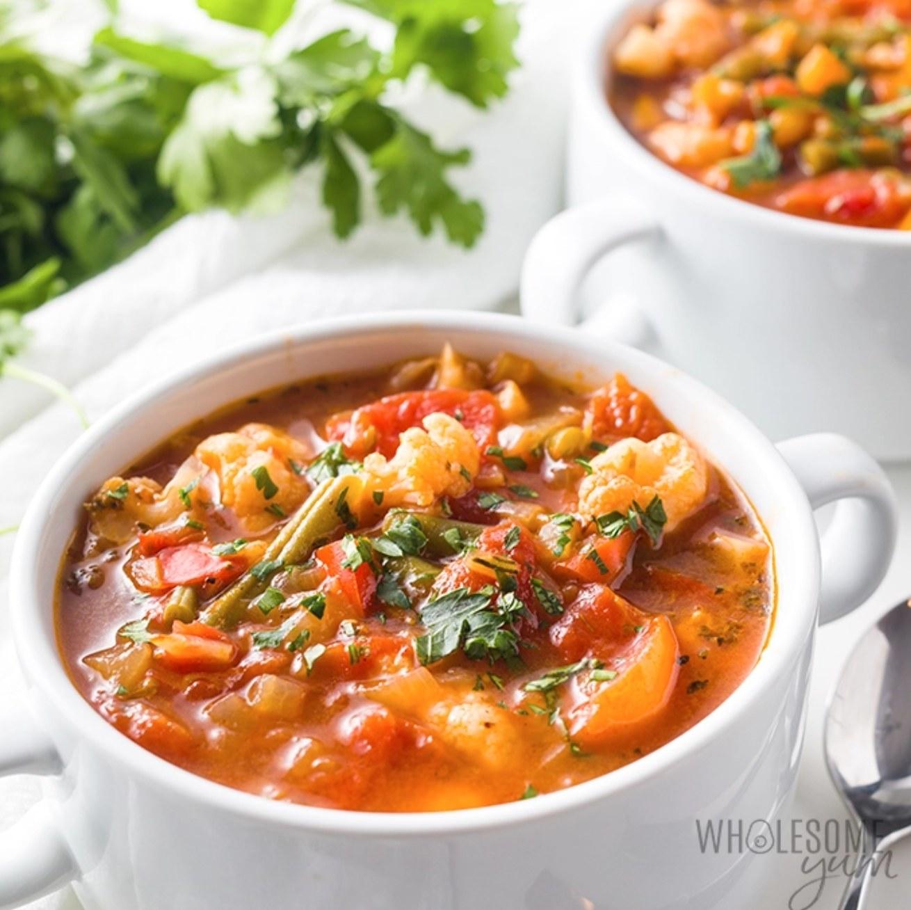 Keto low carb vegetable soup