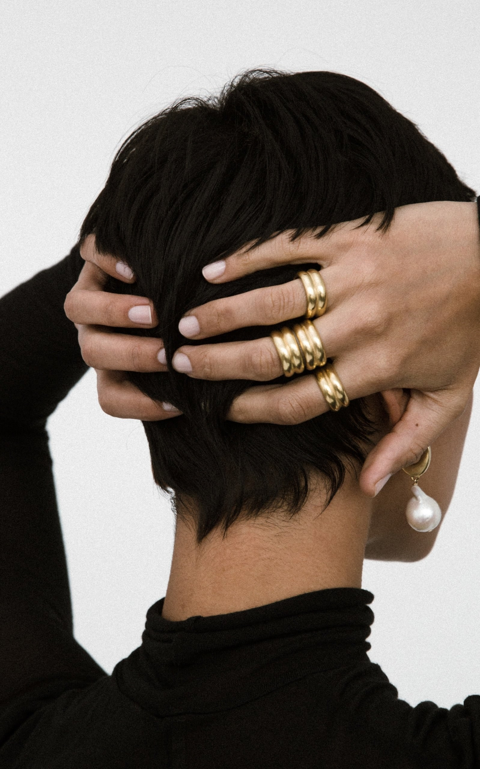 model wearing the ring