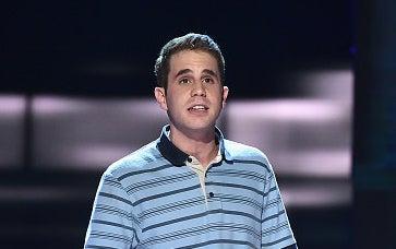 Ben Platt singing onstage