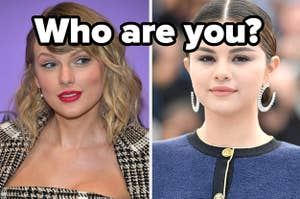 Taylor Swift is on the left labeled,