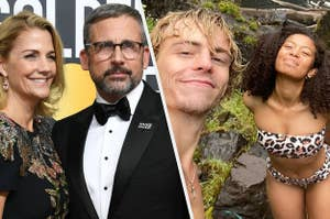 Steve and Nancy Carell from The Office and Ross Lynch and Jaz Sinclair from Chilling Adventures of Sabrina