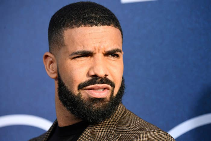 Drake with a confused look on his face
