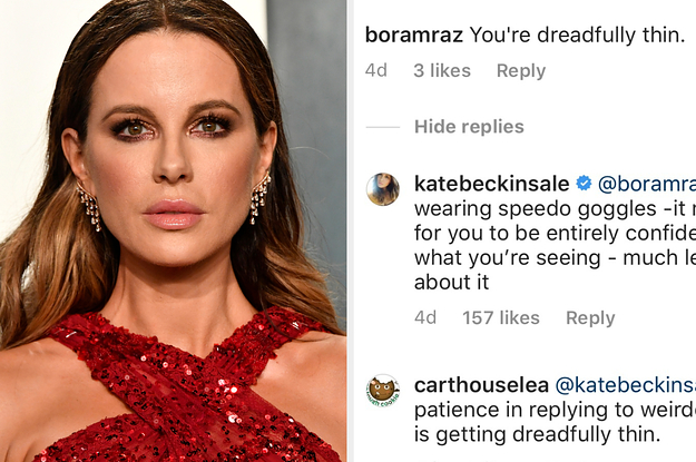 "Kate Beckinsale Absolutely Owned An Instagram Commenter Who Called Her ""Dreadfully Thin"""