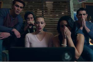 "Archie and the crew finding out who killed Jason Blossom on ""Riverdale"""