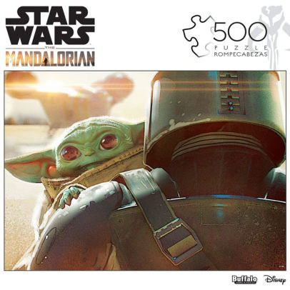 the cover of the puzzle featuring Baby Yoda