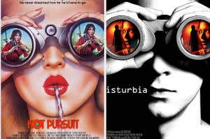 Woman looking through binoculars in Hot Pursuit compared to man looking through binoculars in Disturbia