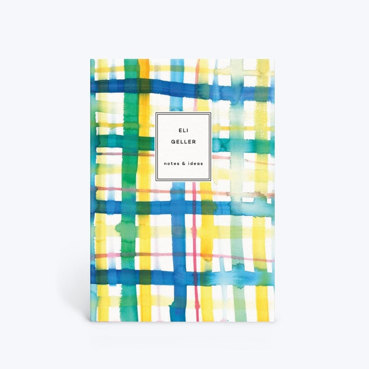 The watercolor plaid notebook