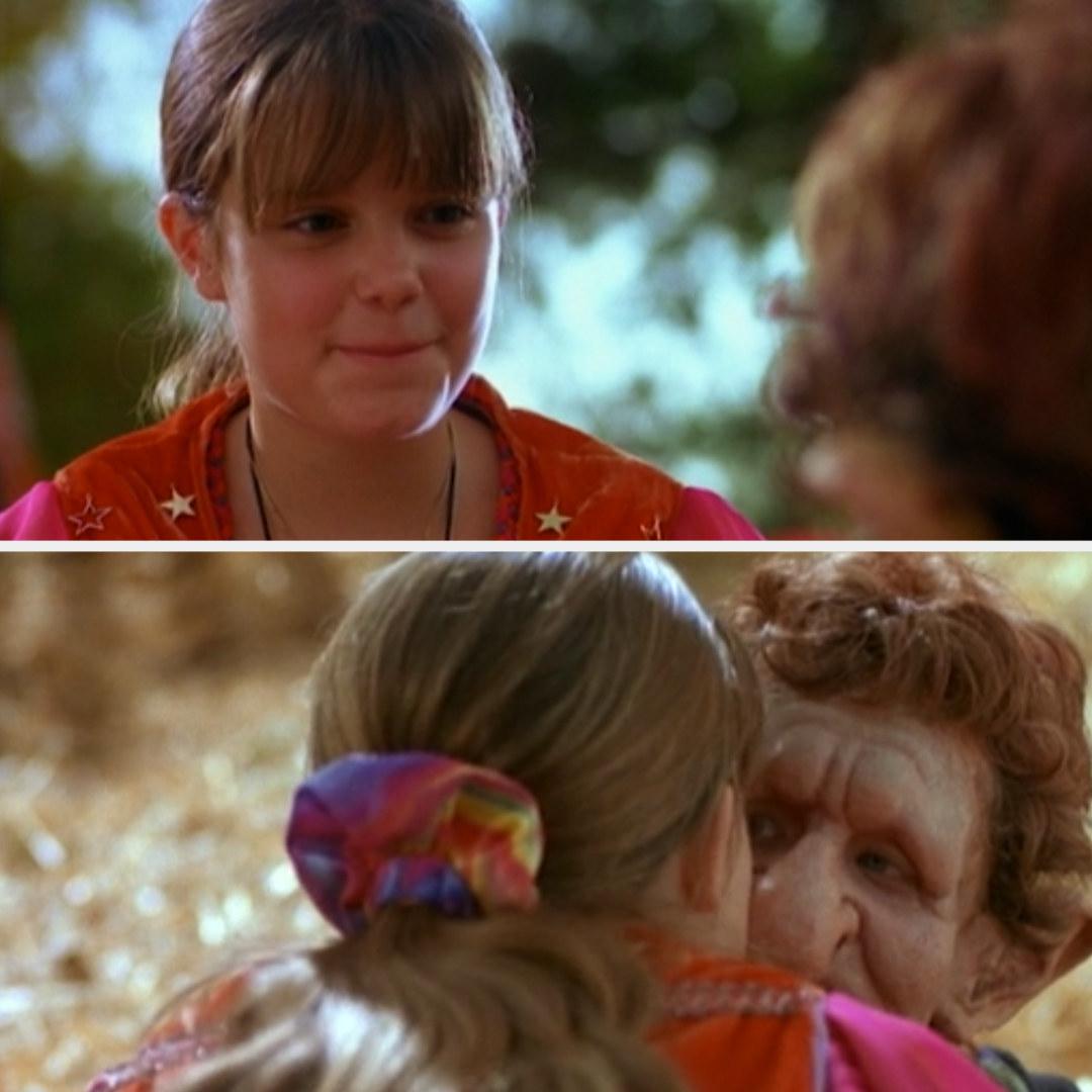 Marnie kissing Luke on the cheek