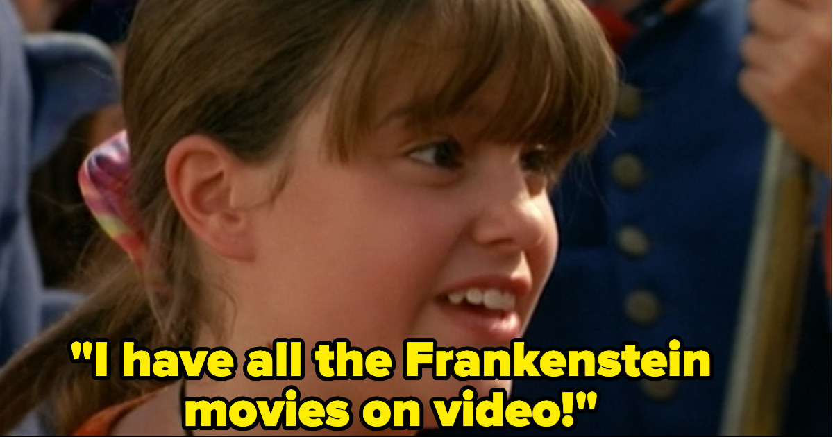 "Marnie saying, ""I have all the Frankenstein movies on video!"""