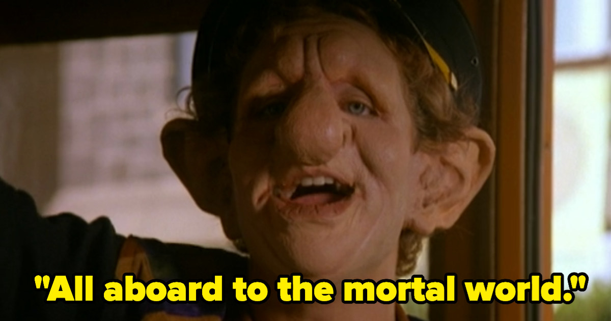 "Luke saying, ""All aboard to the mortal world."""