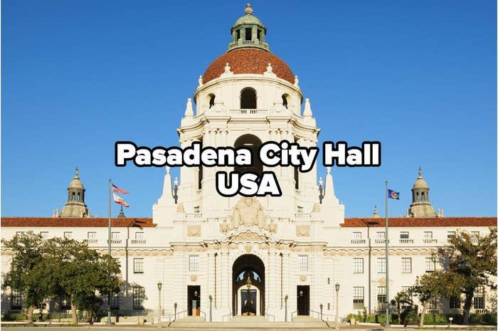 City hall at night (Pasadena, California