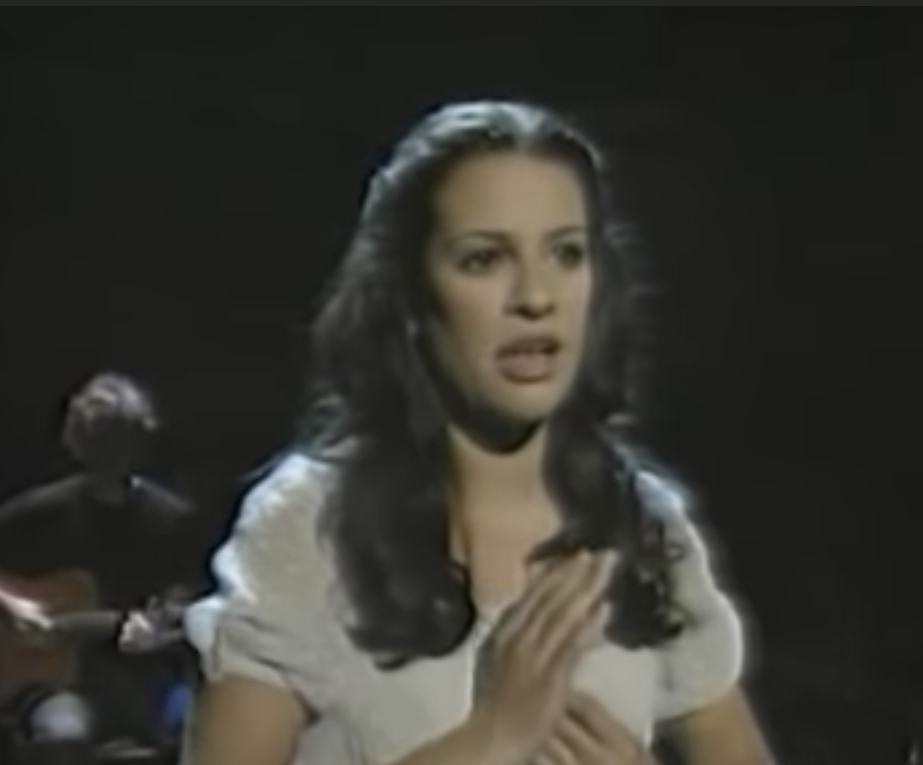 Lea Michelle singing the song for the Tonys