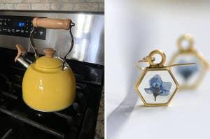 左,茶壶,右耳环