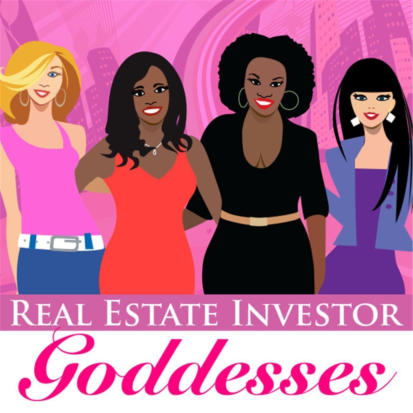 "illustrations of four women ant the title ""Real Estate Investor Goddesses"""
