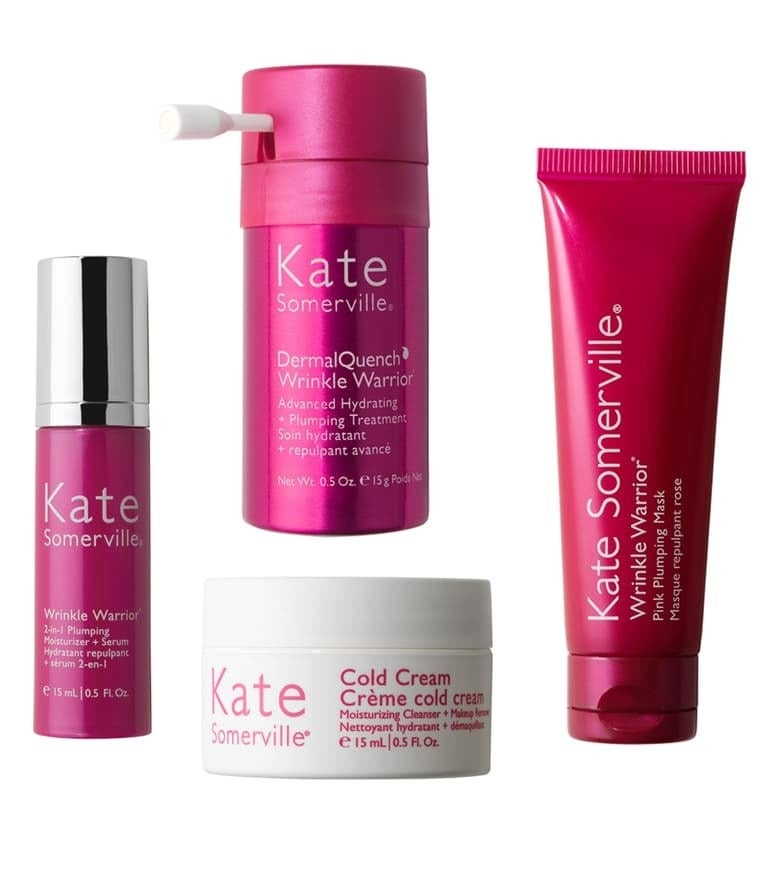 Kate Somerville's plumping mask, hydrating treatment, cold cream, and 2-in-1 moisturizer