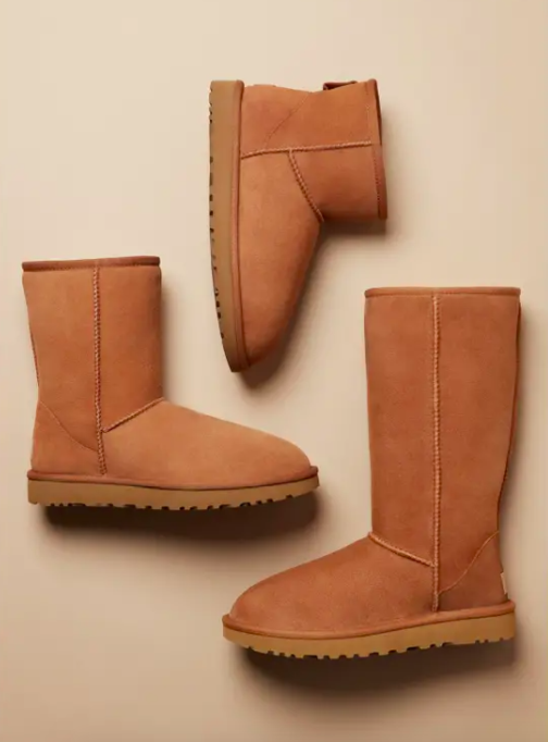All three height options of the classic Ugg boots.