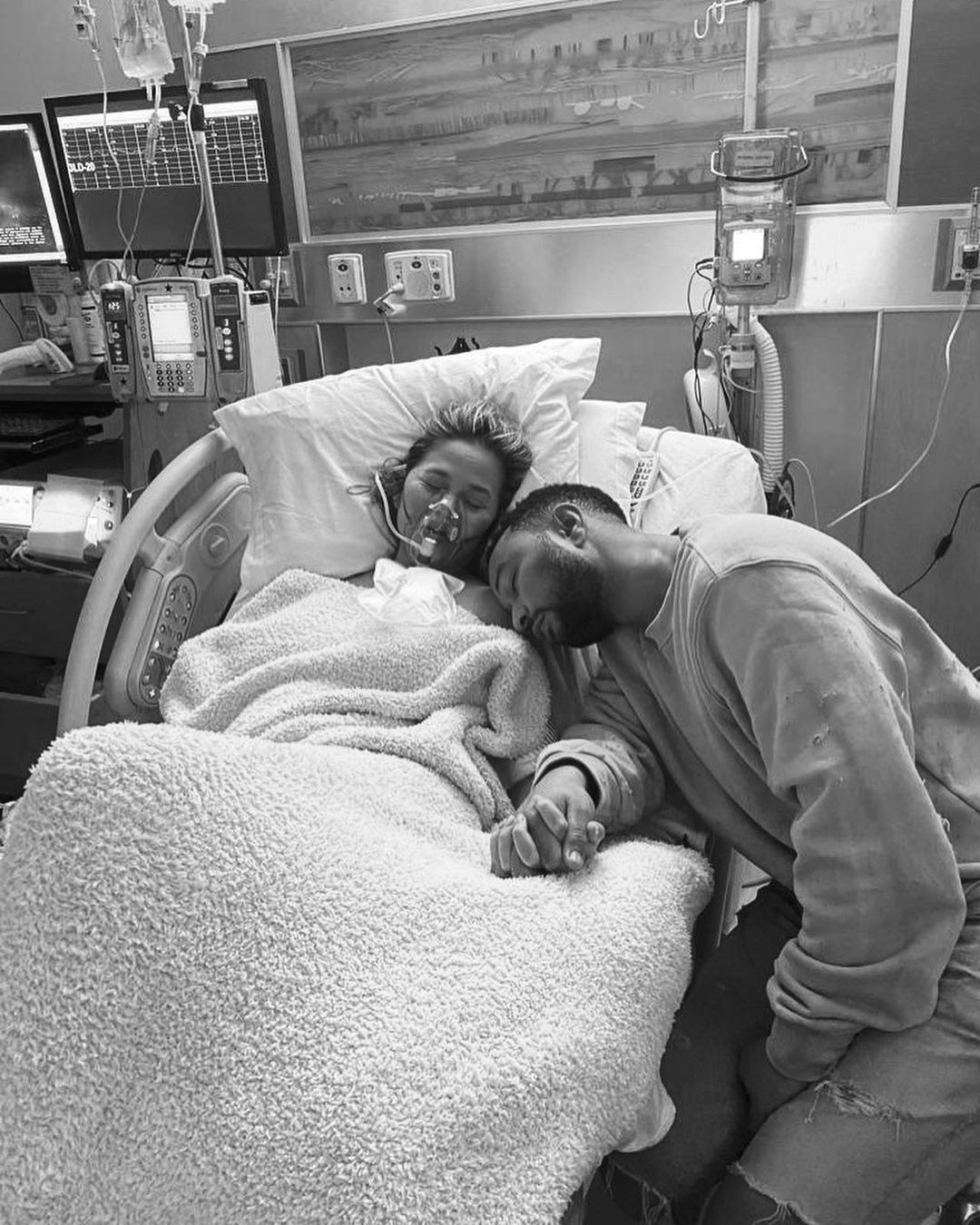 Chrissy and John in the hospital