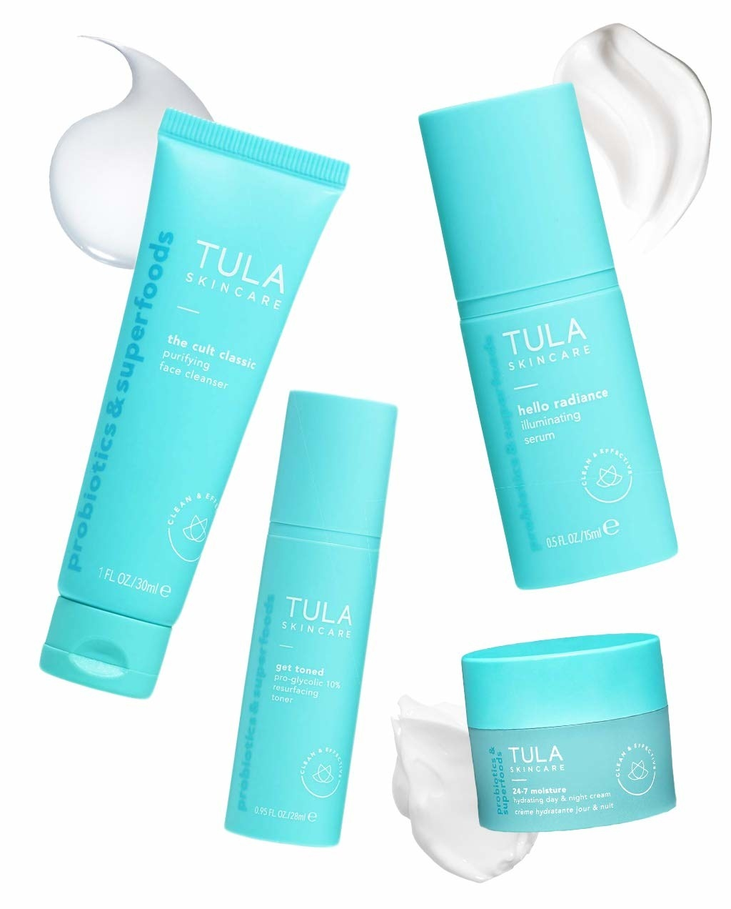 Tula's full set of probiotic skincare solutions