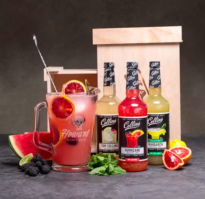 A complete personalized pitcher party crate