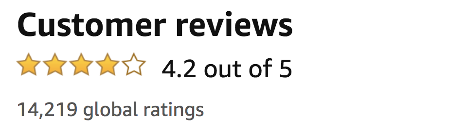 screenshot of customer reviews showing a 4.2 out of 5 star rating