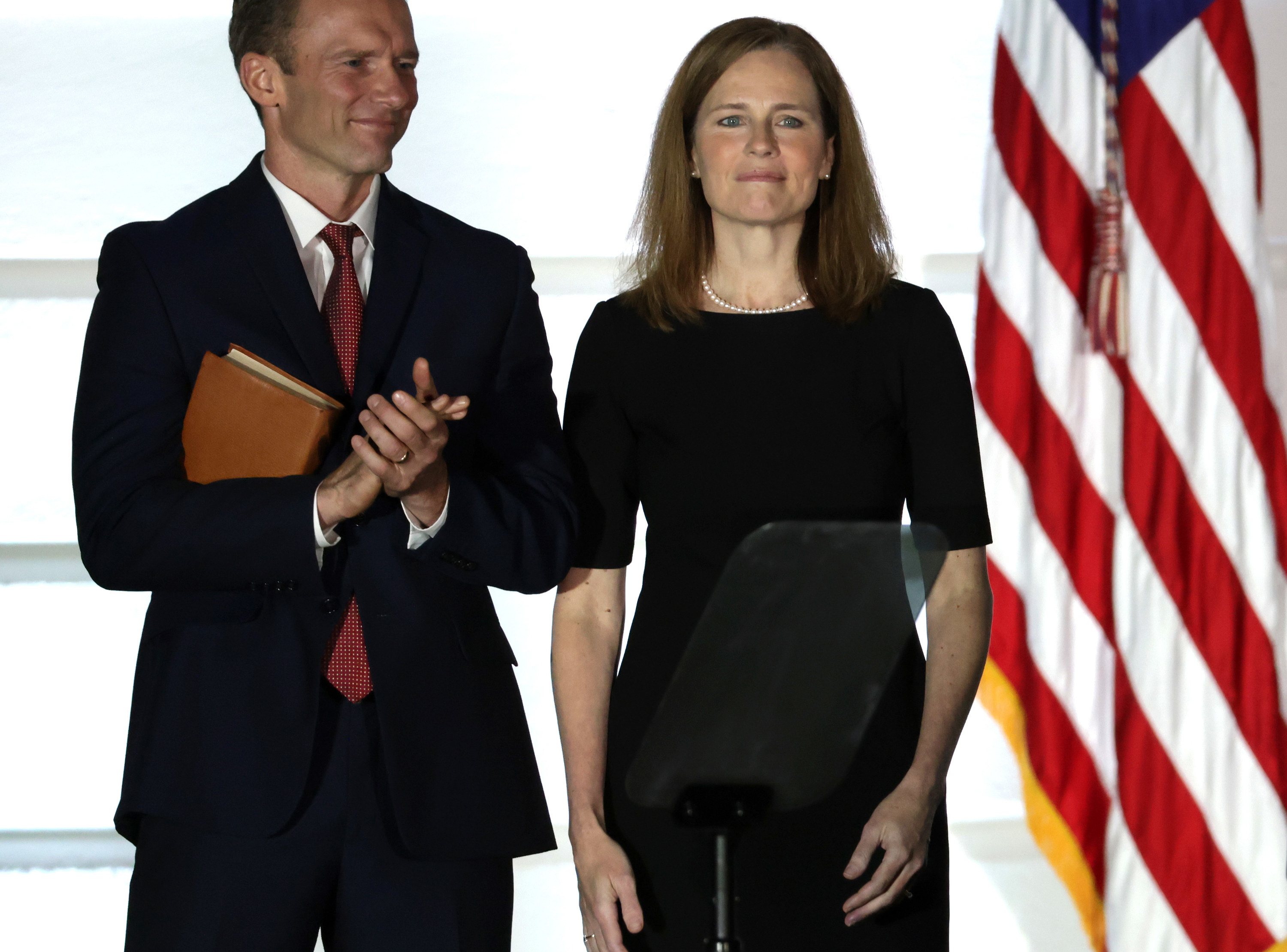 Amy Coney Barrett after taking the oath to the Supreme Court