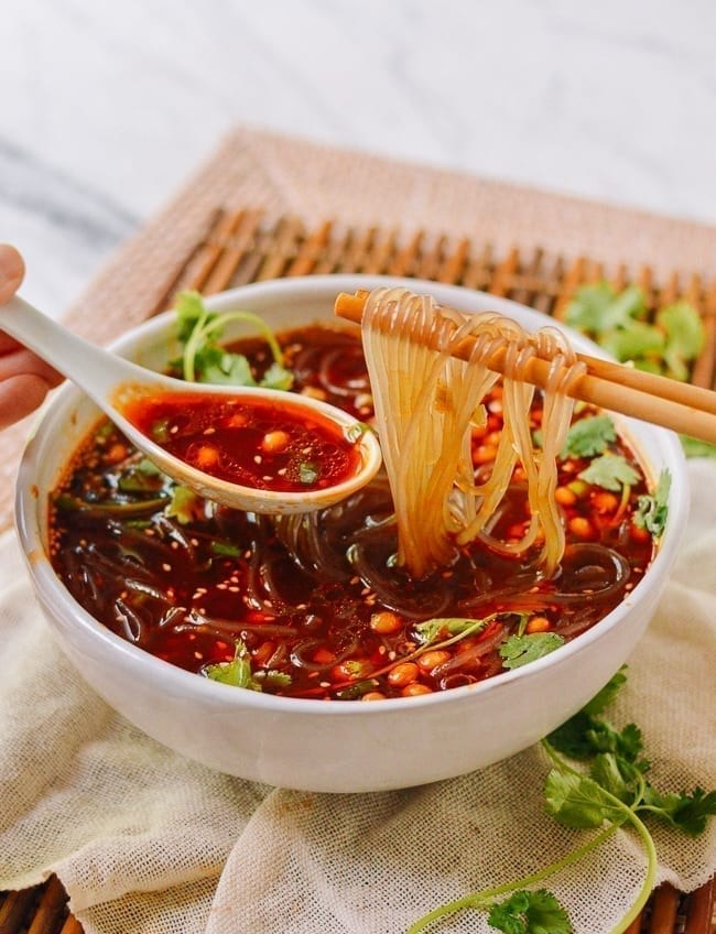 Chongqing Hot and Sour Glass Noodle Soup