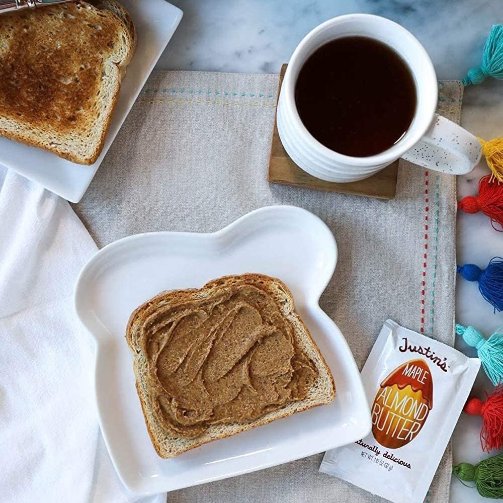 toast with nut butter on it