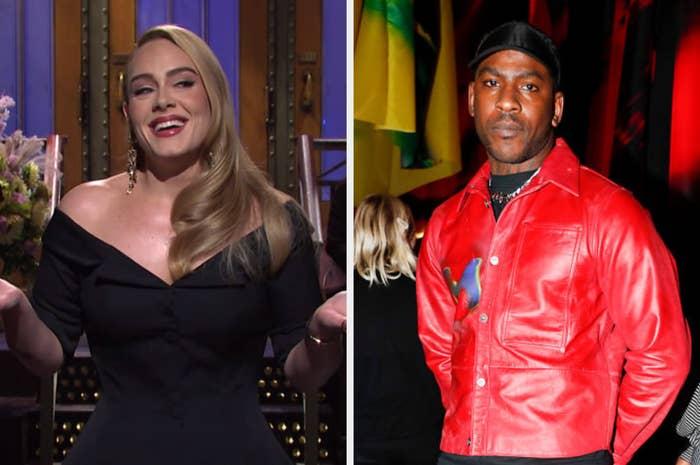 Adele hosting Saturday Night Life and Skepta posing
