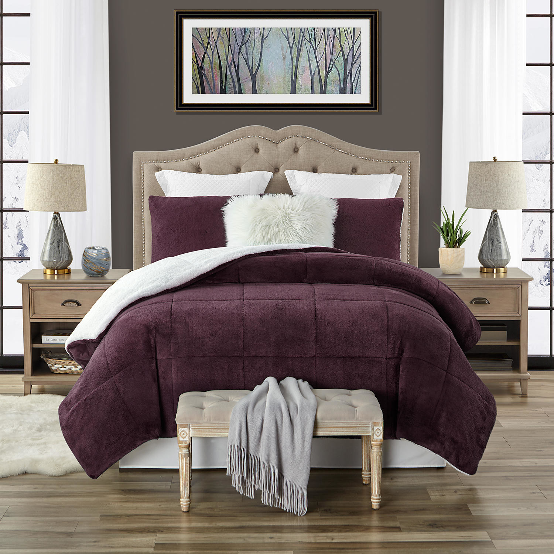 a purple comforter set