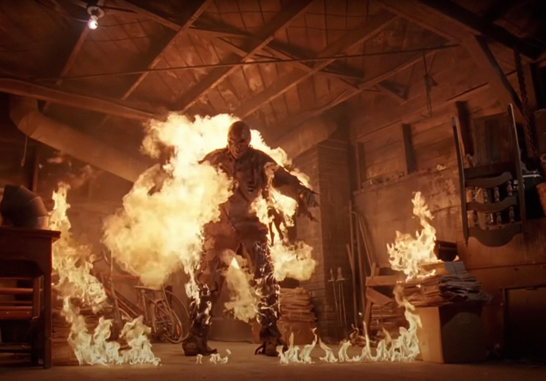 Jason on fire