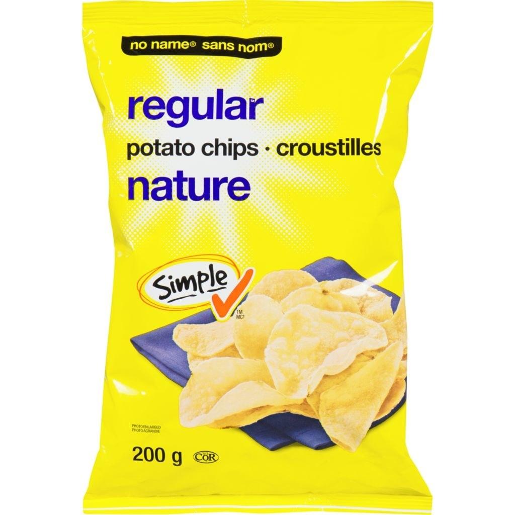 A bag of No Name Regular Potato Chips