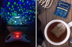 light machine and tea