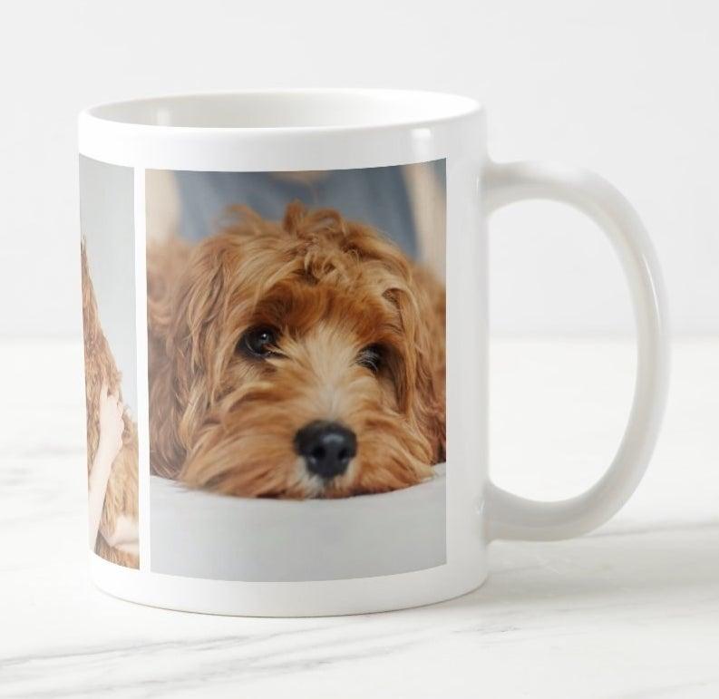 Mug featuring custom dog photos