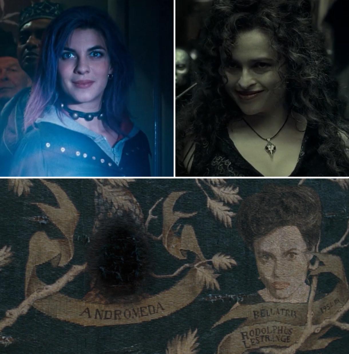 Tonks, Bellatrix, and the Black family tree