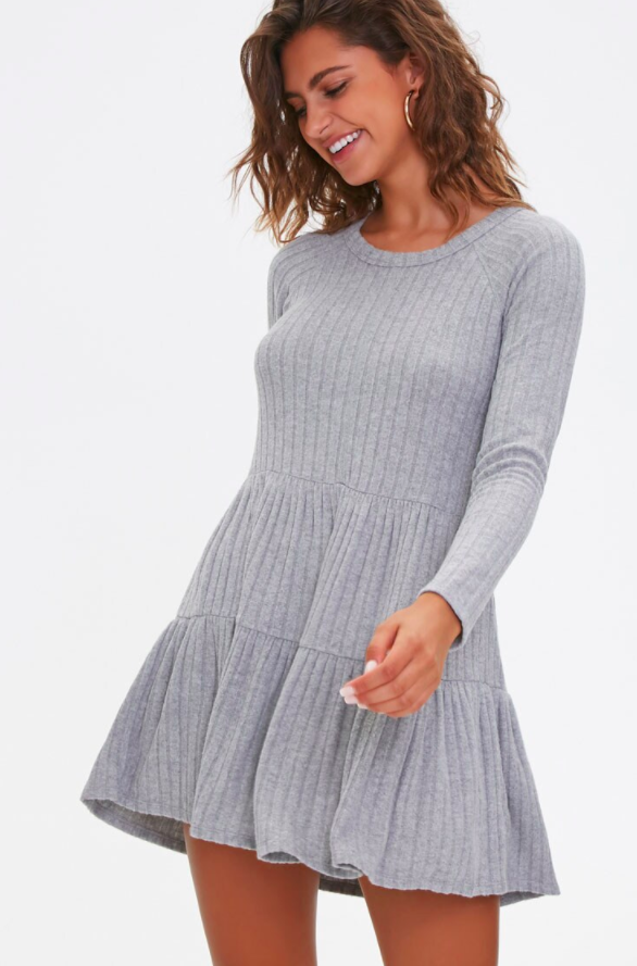 the dress in grey