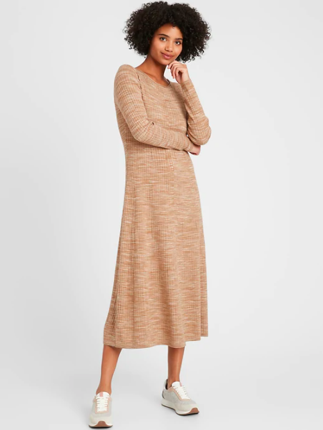 the dress in light brown