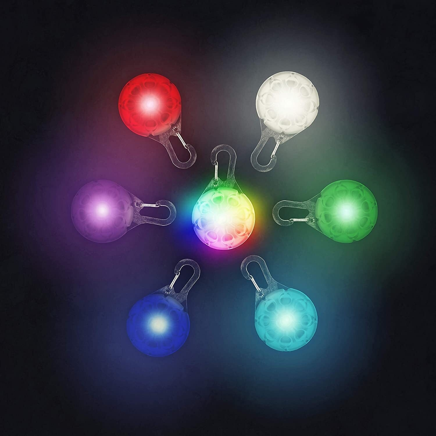 Six collar lights arranged in a circle