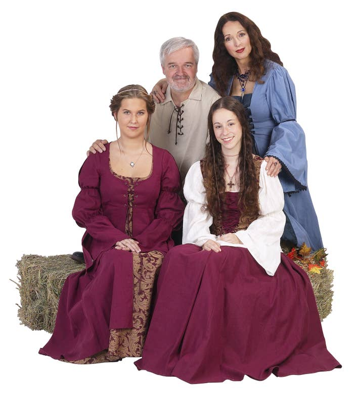 A family of peasants posing