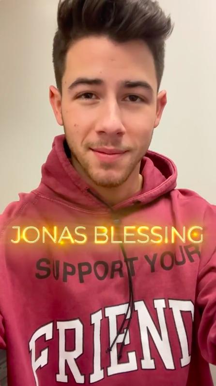 """Nick Jonas explaining the """"Jonas Blessing"""" theory"""